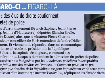 Paris : des élus de droite soutiennent le Préfet de police