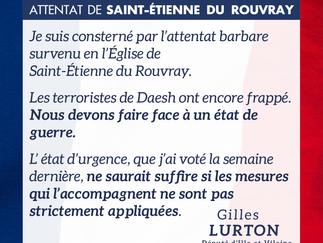 Réaction à l'attentat de Saint-Étienne du Rouvray