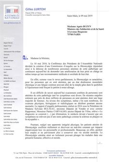 Fibromyalgie : courrier à l'attention de la Ministre des Solidarités et de la Santé pour lui dem