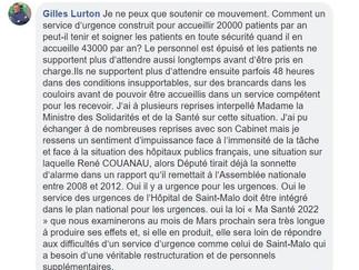 Grève des urgences de l'Hôpital de Saint-Malo : ma réaction