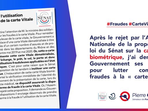Lutte contre l'utilisation frauduleuse de la carte vitale