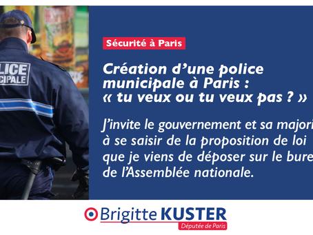 Création d'une police municipale à Paris