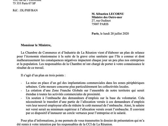 Plan de soutien économie réunionnaise CCI La Réunion