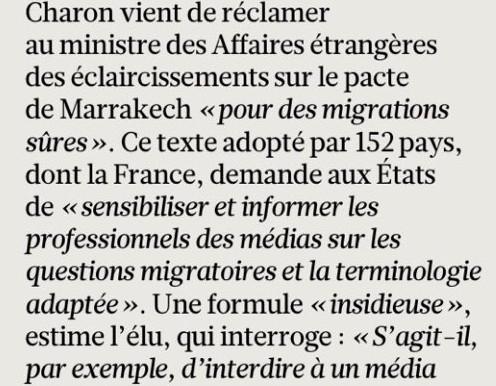 Le Figaro - Conséquences du « Pacte mondial pour des migrations sûres » sur la liberté d'expression