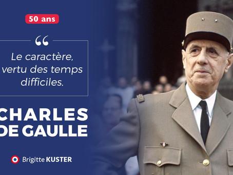 50ème anniversaire de la mort du Général de Gaulle
