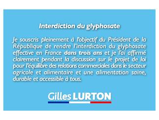 Glyphosate: explication de mon vote