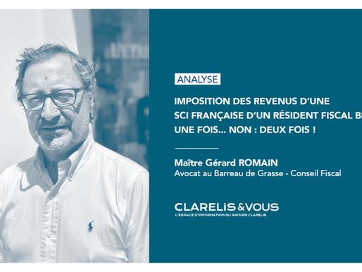 Imposition des revenus d'une SCI française d'un résident fiscal belge, une fois... non : deux fois !