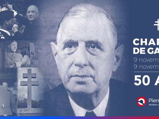 50 ans de la disparition du Général de Gaulle : hommage
