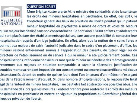 Droits des mineurs hospitalisés en psychiatrie