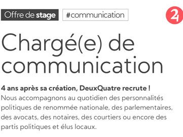 Recrutement - chargé(e) de communication