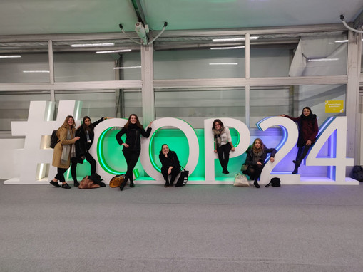 Some of our Deleg'mates at COP24, Katowi