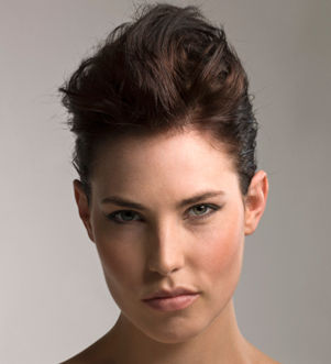 Kvindelig model - håropsætning