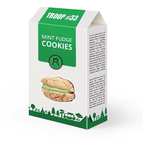 MINT FUDGE COOKIES