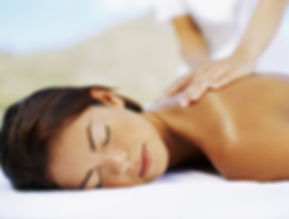 Client having relaxing massage