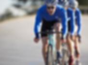 cycle team wearing blue