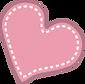 vector corazón rosado