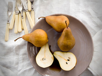 More oxygen please... Roasted Pears with Coconut