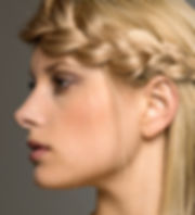 Blonde woman with braid