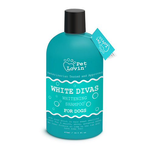 White Divas Whitening Shampoo for Dogs