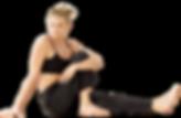 Realizando ejercicio de Pilates
