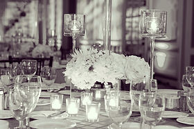 flowers wedding venue table setting candles photography