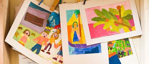 Pinturas feitas por crianças