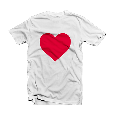 Custom Tshirt with a red heart