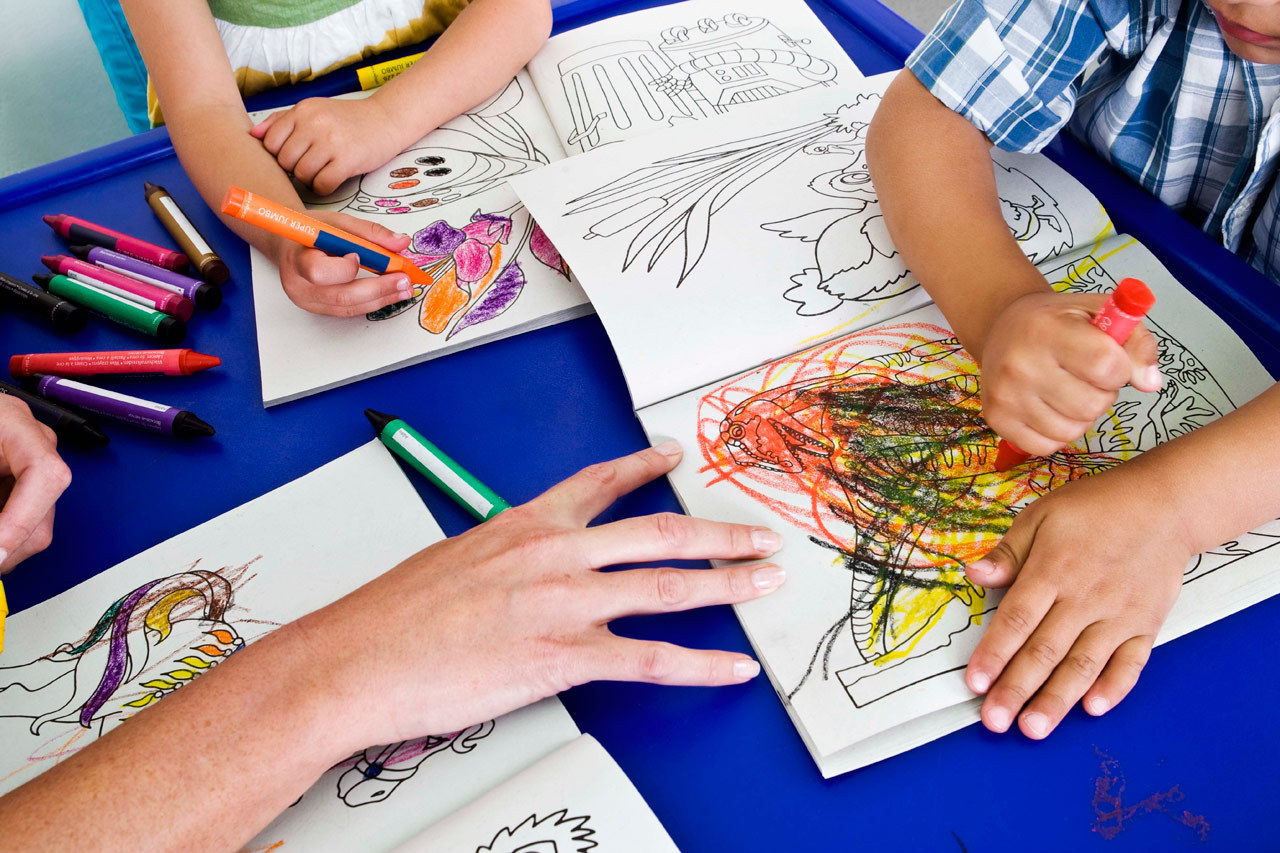 Finger painting, drawing & music