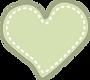 vector corazón verde