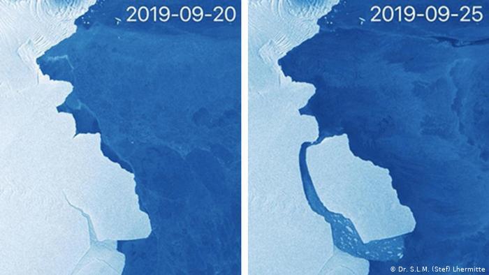 347 billion ton iceberg breaks off Antarctica