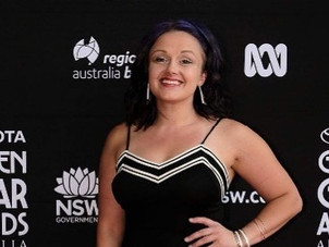Amy Nelson on the Australian Red Carpet