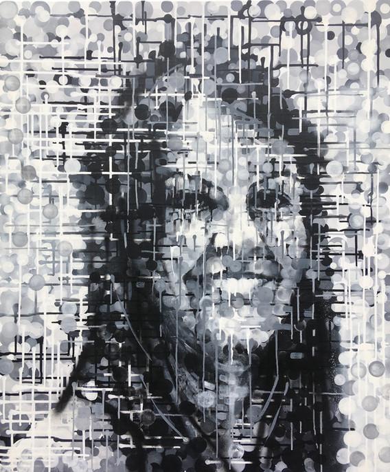 Kasia, 120cm x 100cm, acrylic on canvas, 2021