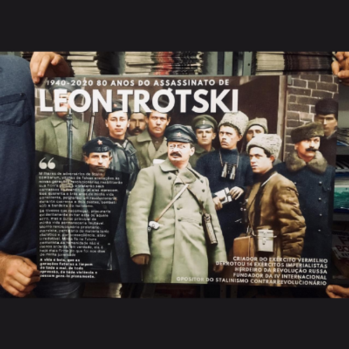 Cartaz A1 - Linha 80 anos do assassinato de Trótski