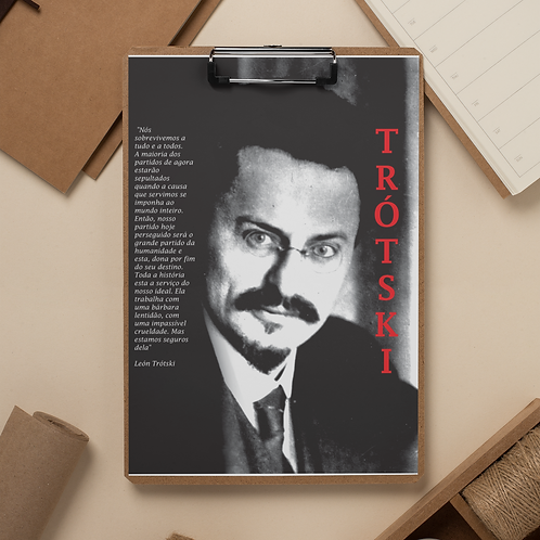 Prancheta -  Linha Trotski frases