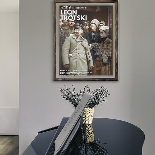 Quadro vertical  - Linha 80 anos do assassinato de Trótski