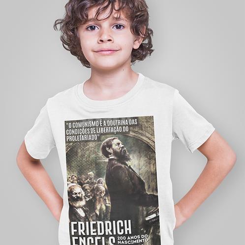 Camiseta Infantil Maga Curta -   Linha 200 anos Engels