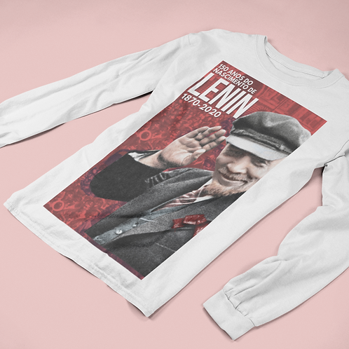 Camiseta De Manga Comprida -  Lenin 150 anos