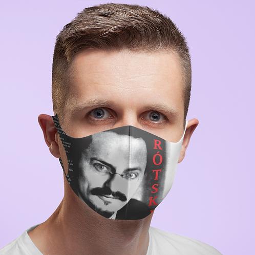 Máscara -  Linha Trotski frases
