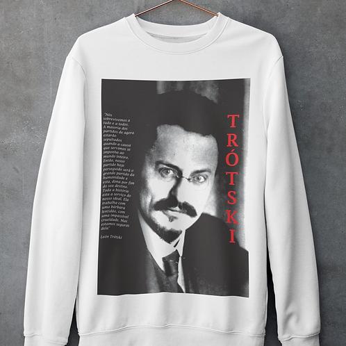 Moletom Sem Capuz - Linha Trotski frase