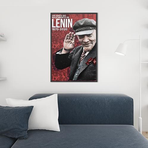 Poster Emoldurado - Lenin 150 anos