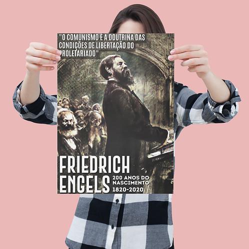 Poster A4 -  Linha 200 anos Engels