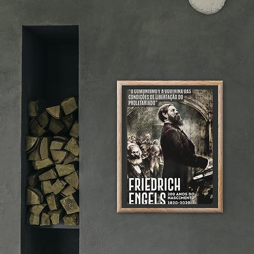 Poster Emoldurado -  Linha 200 anos Engels