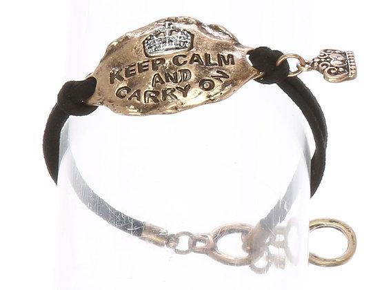 Keep Calm & Carry On Bracelet
