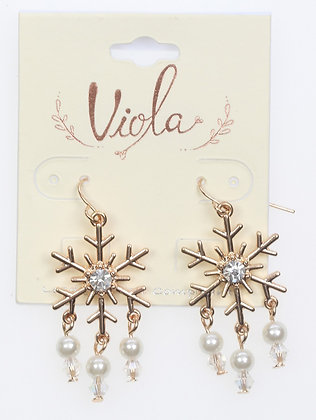 Bling Snowflake Earrings