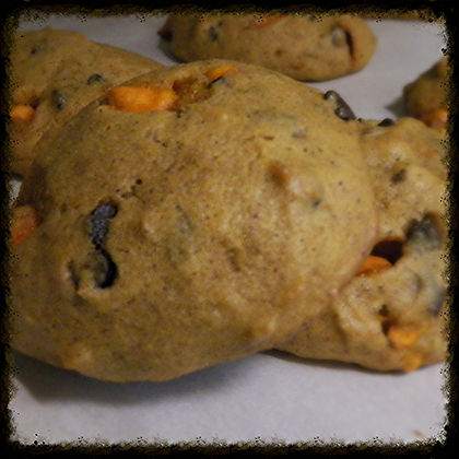 Pumpkin Spice Walnut Cookies