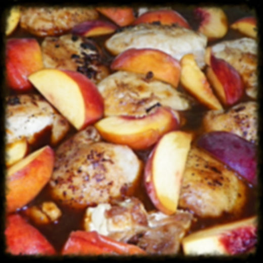 peach and bourbon bbq chicken