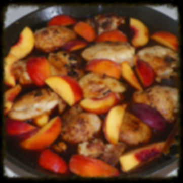 bourbon peach chicken bbq