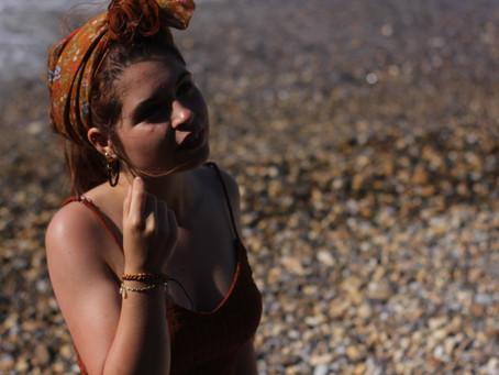 Silk headscarfs and a playsuit