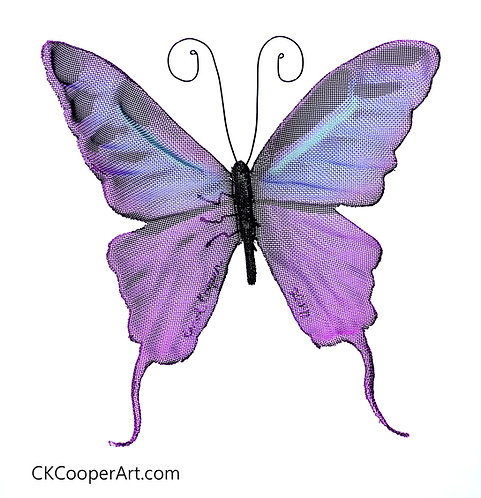 Purple and teal Butterfly