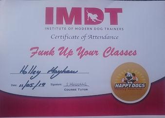 IMDT Dog Training Classes 2019